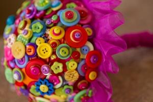 summer brights button bouquet