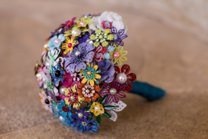 Enamel bridal bouquet