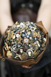 steampunk button bouquet -005