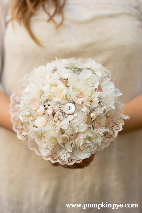 button bouquet vintage buttons and lace