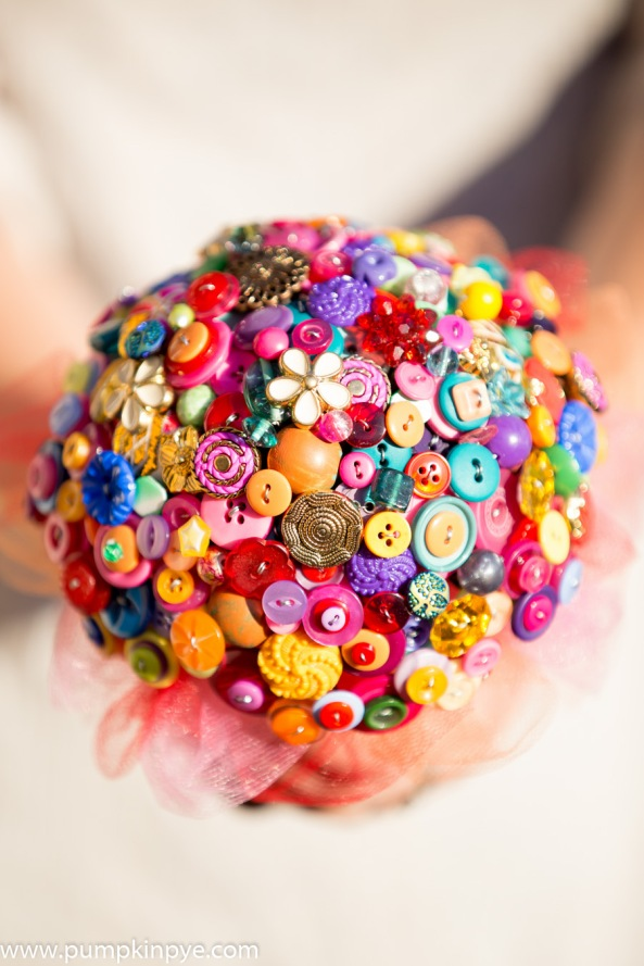 Indian Summer button bouquet
