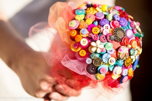 indian wedding, button bouquets