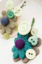 felt flower, boutonniere, buttonhole