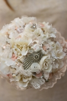 lace, button bouquet, vintage bouquet