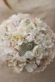 lace, button bouquet, vintage bouquet