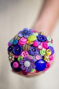 purple button bouquet, button bouquets